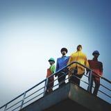 Conceito modelo do apoio da proteção de Workers Men Safety imagens de stock