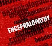 Conceito moderno da saúde: Encefalopatia em Brickwall vermelho ilustração stock