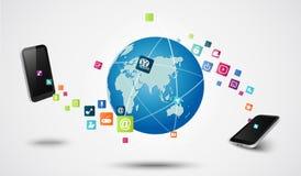 Conceito moderno da tecnologia da conexão Fotografia de Stock Royalty Free