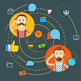 Conceito moderno de uma comunicação da Web Foto de Stock Royalty Free