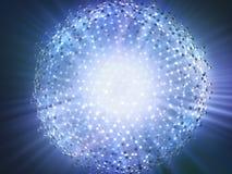 Conceito molecular da tecnologia da ciência ilustração royalty free