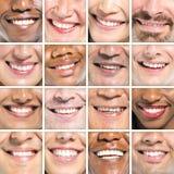 Conceito Multi-étnico do sorriso do grupo do sorriso bonito Imagem de Stock