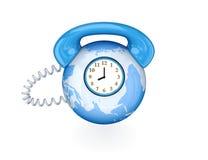 Conceito mundial da conexão de telefone. ilustração stock