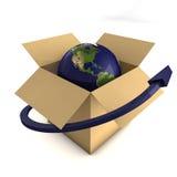 Conceito mundial da entrega ilustração royalty free