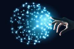 Conceito mundial da tecnologia dos meios 3d rendem Imagem de Stock Royalty Free