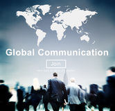 Conceito mundial do homepage do Web site de uma comunicação global Imagem de Stock