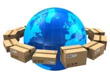 Conceito mundial do transporte Imagens de Stock Royalty Free