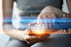 Conceito mundial global do Internet da tecnologia de rede do negócio de uma comunicação Fotos de Stock Royalty Free