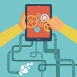Conceito móvel do desenvolvimento do app do vetor Fotografia de Stock Royalty Free