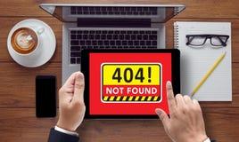 conceito 404 não encontrado Fotografia de Stock Royalty Free