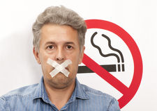 Conceito não fumadores Imagem de Stock