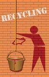 Conceito na reciclagem Foto de Stock