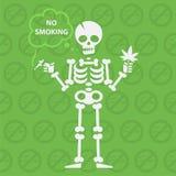 Conceito no tema não fumadores Imagens de Stock Royalty Free