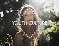 Conceito novo da infância dos estudantes dos adolescentes da cultura de juventude foto de stock royalty free