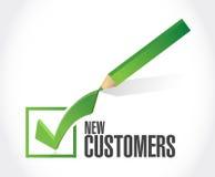 conceito novo do sinal da marca de verificação do cliente Imagens de Stock Royalty Free