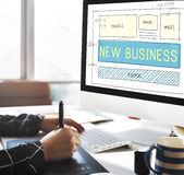 Conceito novo dos objetivos da visão do planeamento da partida de negócio Imagens de Stock