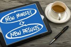 Conceito novo dos resultados do mindset novo Fotografia de Stock Royalty Free