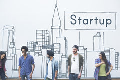 Conceito novo Startup do lançamento da estratégia da visão do negócio Fotografia de Stock