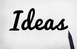 Conceito objetivo da missão do plano de desenvolvimento da visão da ideia das ideias Fotos de Stock