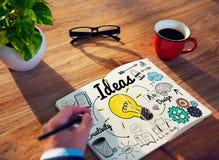 Conceito objetivo da missão do plano de desenvolvimento da visão da ideia das ideias Foto de Stock Royalty Free