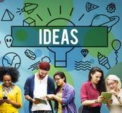 Conceito objetivo das táticas da estratégia da inovação do projeto das ideias Fotos de Stock Royalty Free