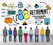 Conceito ocasional da aspiração da visão da aposentadoria dos povos da diversidade Imagens de Stock