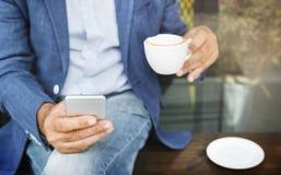 Conceito ocasional do estilo do abrandamento da cafeína do café do café fotos de stock royalty free
