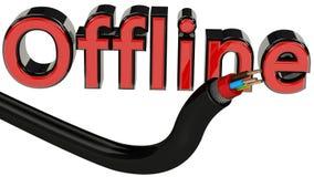 Conceito off line Fotografia de Stock