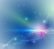 Conceito onda-digital futurista abstrato da tecnologia Foto de Stock