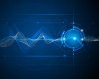 Conceito onda-digital futurista abstrato da tecnologia da ilustração Foto de Stock