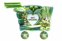 Conceito orgânico dos mantimentos Foto de Stock Royalty Free