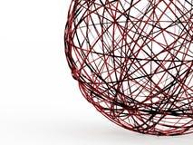 Conceito orgânico futurista abstrato da esfera rendido ilustração do vetor