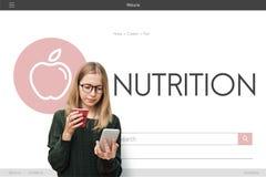 Conceito orgânico do exercício da dieta do bem-estar da saúde Fotos de Stock