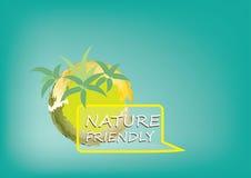 Conceito orgânico para a natureza ou sistema de Eco para a árvore do símbolo ou do fundo com raiz Imagens de Stock Royalty Free