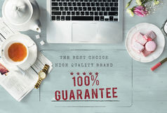 Conceito original da garantia de alta qualidade do Exclusive 100% do tipo Fotografia de Stock Royalty Free