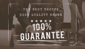 Conceito original da garantia de alta qualidade do Exclusive 100% do tipo Imagem de Stock Royalty Free