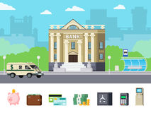Conceito ortogonal do banco Foto de Stock Royalty Free