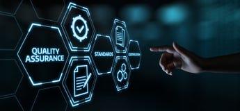 Conceito padrão da tecnologia do negócio do Internet da garantia do serviço do controle de qualidade foto de stock
