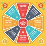 Conceito para apresentações - esquema de Infographic do vetor com ícones. ilustração royalty free