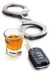Conceito para a condução em estado de embriaguês Imagem de Stock Royalty Free