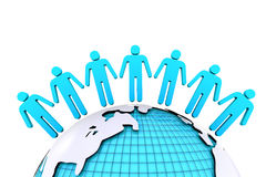 Conceito para a conexão humana em torno do mundo Foto de Stock