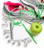 Conceito para a dieta saudável e o controle de peso corporal Fotos de Stock