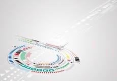 Conceito para a empresa & o desenvolvimento da nova tecnologia ilustração royalty free
