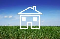 Conceito para o investimento de bens imobiliários Foto de Stock
