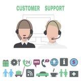 Conceito para o serviço de apoio ao cliente Fotos de Stock