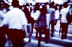 Conceito pedestre de passeio de Hong Kong People Commuters City Imagem de Stock
