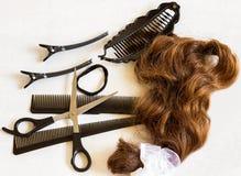 Conceito - penteados em mudança Fotografia de Stock Royalty Free