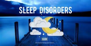 Conceito perturbado da depressão da insônia da desordem de sono imagens de stock royalty free