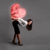 Conceito pesado do amor Imagens de Stock