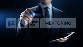 Conceito pessoal de formação de treinamento do desenvolvimento e da educação da tutoria foto de stock